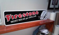 "Firestone Tires Aluminum Sign 6"" x 24"""