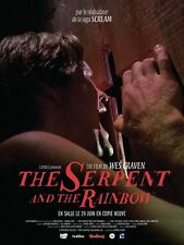 Affiche 40x60cm THE SERPENT AND THE RAINBOW (1988) Wes Craven R2016 TBE