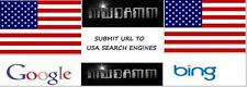 SUBMIT URL TO 50 USA SEARCH ENGINES MANUAL SUBMIT TO BING & GOOGLE $3.50 OBO