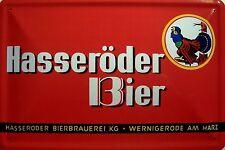 Hasseröder Bier quer Blechschild Schild Blech Metall Metal Tin Sign 20 x 30 cm