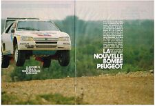 PUBLICITE  1983  PEUGEOT 405  TURBO  (3 pages)  terreur du PARIS-DAKAR