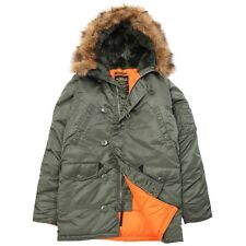 NEW ALPHA INDUSTRIES N3B SLIM FIT PARKA SAGE ORANGE XL JACKET INSULATED COYOTE
