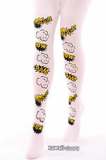 ST-02 BAM weiß White Lolita Comic Cartoon Strumpfhose tights Harajuku Japan