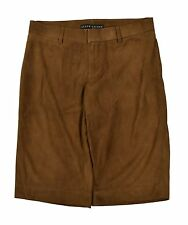 Ralph Lauren Black Label Brown Suede Leather Shorts 2 New $1298