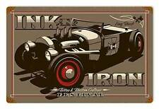 Ink n Iron Long Beach Festival Rat Hot Rod Tattoo Retro Sign Blechschild Schild