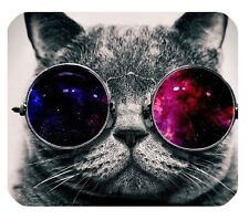 COOL CAT WITH SUNGLASSES - PREMIUM QUALITY MOUSE MAT / PAD