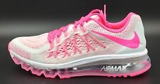 Nike Air Max 2015 Running Shoes White Pink 705458 500 Youth 7Y New