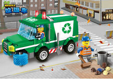 City Series:Building toys Garbage truck Children's gifts fit lego 196pcs