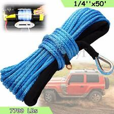 7700lbs Synthetic Winch Rope 10mmX30m SK78 Hook Aluminium Fairlead Cable 4x4