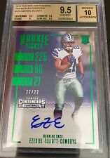 2016 EZEKIEL ELLIOTT /22 Contenders ROOKIE PREVIEW TICKET  BGS 9.5/10 AUTO RC