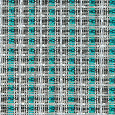 "36"" Speaker Grill Cloth Fabric Silver Turquoise Stripe"