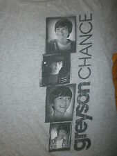 GREYSON CHANCE T SHIRT Hot Topic Ellen Degeneress Concert Tour Appearance Gray M