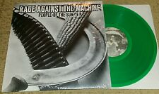 "RAGE AGAINST THE MACHINE - People Of The Sun 10""  GREEN WAX (SEALED) SXE NYHC"