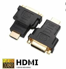 DVI auf HDMI Adapter 1080p FULL HD PC TV Video Monitor Beamer Stecker Buchse NEU