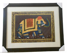 MINIATURE ELEPHANT PAINTING HANDMADE ART WATER COLOR TRADITIONAL NEW FOR SALE