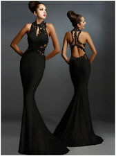 Black Size M Sexy Women Lave Formal Ball Gown Cocktail Wedding Dress 13111