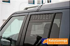 LÜFTUNGSBLECHE Seitenfenster hinten LAND ROVER DISCOVERY mit MOSKITONETZ schwarz