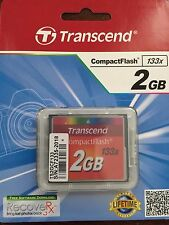 Transcend 2 GB 2GB 133x Speed Compact Flash CF Memory Card - Brand New
