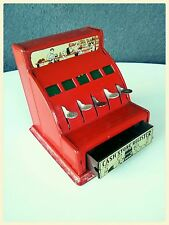 Durable Toy Co. New York Antique Pressed Tin Toy Cash Register