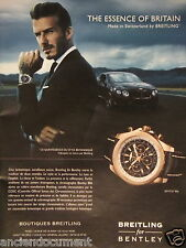 PUBLICITÉ 2013 BREITLING FOR BENTLEY DAVID BECKHAM - ADVERTISING