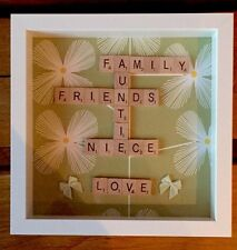 Scrabble Letter Picture Box Frame Personalised