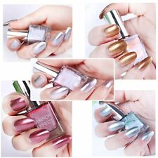 5Pcs Silver Gold Pink Red Green Nail Polish Metallic Mirror Effect Metal New