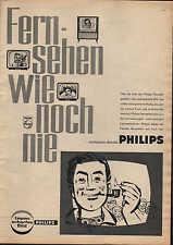 """BERLIN, PHILIPS-Fernsehgerät, Werbung 1960, """"Fernsehen wie noch nie"""" TV Technik"""