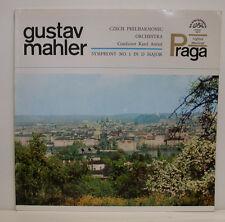 """GUSTAV MAHLER SYMPHONY NO. 1 KAREL ANCERL CZECH PHILHARMONIC 12"""" LP FOC (e222)"""