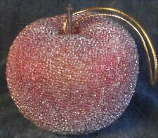 Vintage Beaded Artificial Apple Christmas Ornament - VGC - VERY PRETTY, CLASSIC