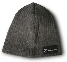 Mercedes Benz Fine Knit Beanie Grey with Mercedes Benz Logo