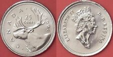 Brilliant Uncirculated 1996 Canada 25 Cents From Mint's Roll