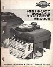 BRIGGS & STRATTON 2 CYCLE ENGINE SERVICE MANUAL 95700 & 96700 MS-9640 11-87