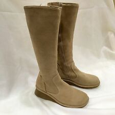 NEW TAN AEROPOSTALE SUEDE LEATHER WINTER BOOTS SIZE 8 Flat Anti-skid Knee high