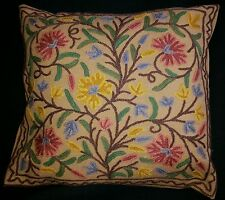 "Indian Kashmir - Kashmiri Cushion Covers with Hand-made Embriodery 16"" X 16"""