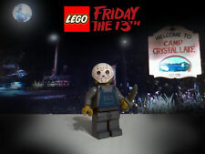 Custom Lego Jason Friday 13th Voorhees minifig w/ removable mask & slasher knife