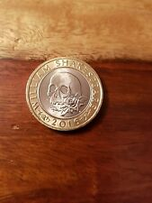 2 Pound Coin £2 Coin William Shakespeare Macbeth Rose And Skull 2016