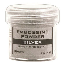 Ranger Embossing Powder 1oz Jar-Super Fine Silver