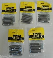 30 DEWALT #2 Phillips + #8 Slotted Double Ended Driver Bit Tips, 5 Packs, DW2024