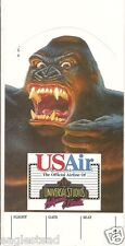 Ticket Jacket - US Air - King Kong - Universal Studios - 1990 (J1079)