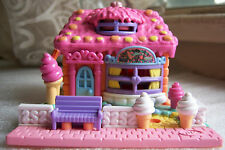 Vintage Polly Pocket Ice Cream Parlor complete set  w dolls  Bluebird Toys