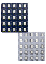 PAMP Suisse 1 gram Platinum Snap off Fortuna Bars - Sheet of 25 Bars SKU39906