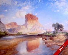 NATIVE AMERICAN INDIANS O'NEIL BUTTE GRAND CANYON PAINTING ART REAL CANVAS PRINT