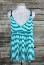 NWT Old Navy Womens Large Green Striped Braided Strap Sleeveless Top Tank