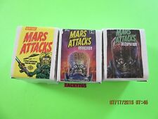MARS ATTACKS BASE SETS LOT  OF (3) MARS ATTACKS/INVASION/OCCUPATION