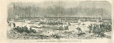 Accident of Regents Park Casualty Toronto Canada GRAVURE ANTIQUE OLD PRINT 1867