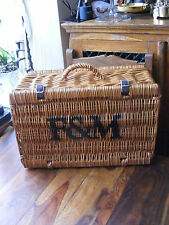 Lovely Medium Fortnum & Mason F&M Hamper Wicker Picnic Storage Present Basket
