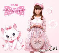 Genuine Angelic Pretty X Disney Kiss me!  Mary Cat Heart Tote bag Handbag BNWT