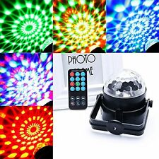 LED Lights Toy Projector Rotating Crystal Ball Calming Autism Sensory w/ Remote