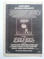 "BEE GEES ""Saturday Night Fever"" #2 original 1978 Trade Press Advert Poster Size"