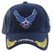 NEW! US AIR FORCE USAF WING VETERAN LEAF SHADOW CAP HAT NAVY